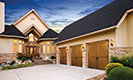 Canyon Ridge Collection Ultra-Grain Series Garage Doors with Cream Home