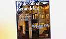 Professional Remodeler Magazine Cover with Clopay Avante Garage Doors